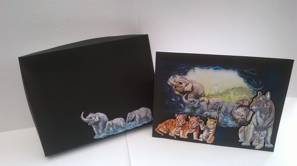 Elephants and Tigers Card