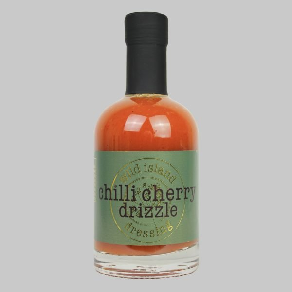 A bottle of chilli cherry dressing