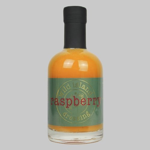 A bottle of raspberry flavoured salad dressing